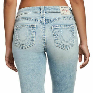 True Religion Women's Curvy Skinny Stretch Jeans